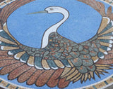 Peacock Medallion II - Mosaic Art