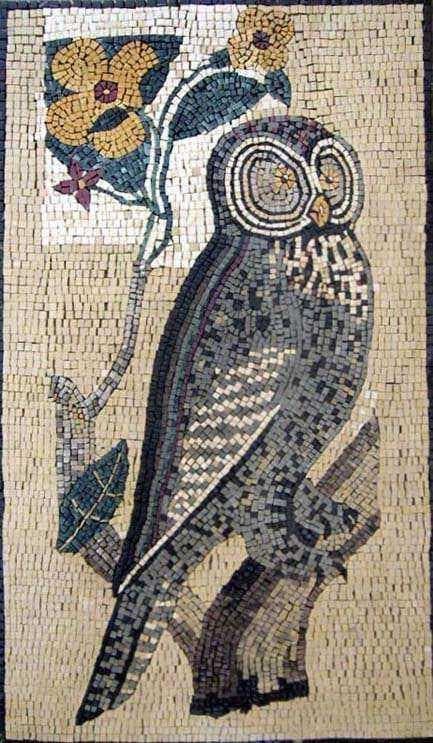 Marble Mosaic Art - Wise Owl
