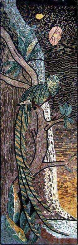 Mosaic Tile Art - Twilight Peacock