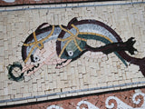 Twin Dolphins - Mosaic Artwork