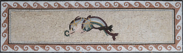 Twin Dolphins - Mosaic Artwork | Marine Life&Nautical | Mozaico