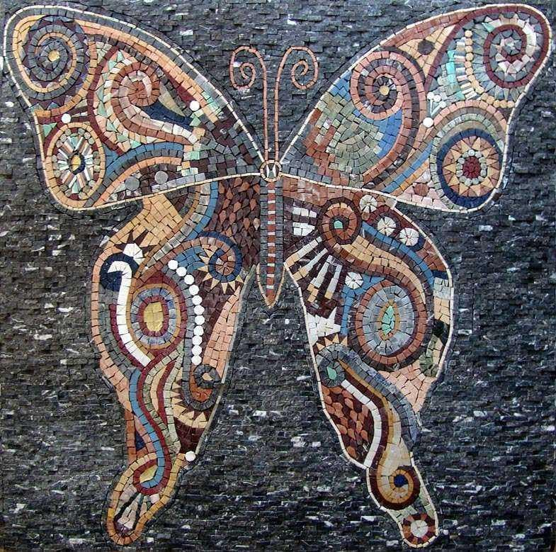 Mosaic Patterns Abstract Butterfly Birds And