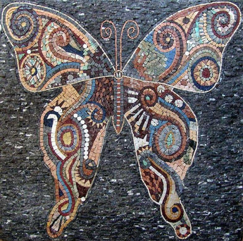 Mosaic Patterns - Abstract Butterfly