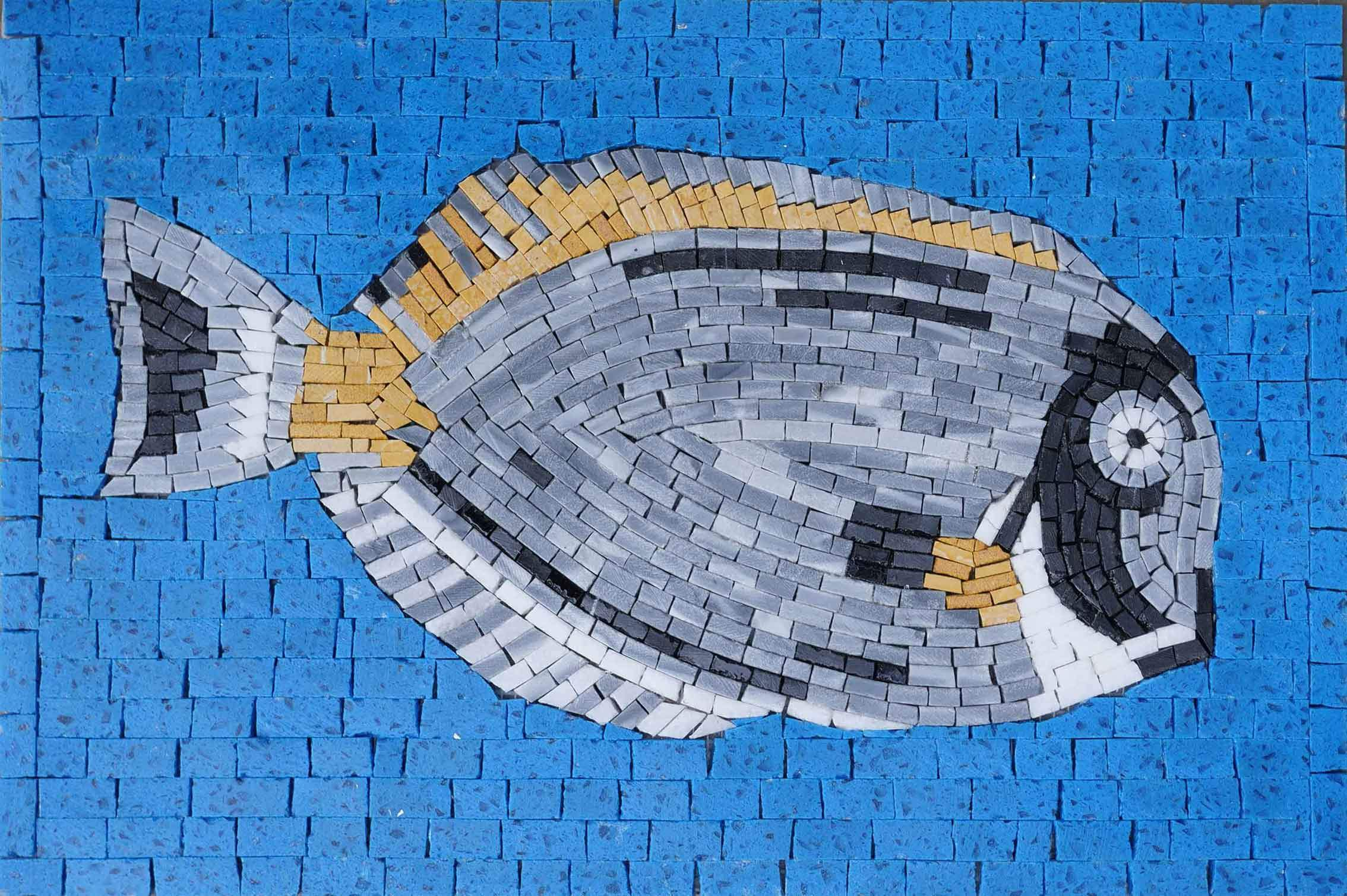 Blue Tang Fish- Mosaic Fish Art