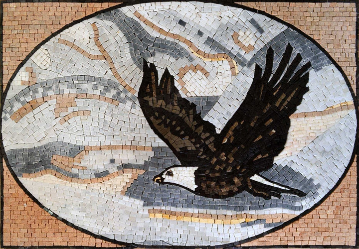 Mosaic Artwork - Soaring Eagle