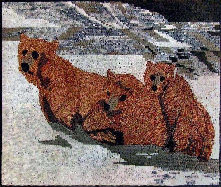 Mosaic Artwork  - Bears