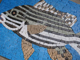 Black And White Fish - Mural Mosaic Art