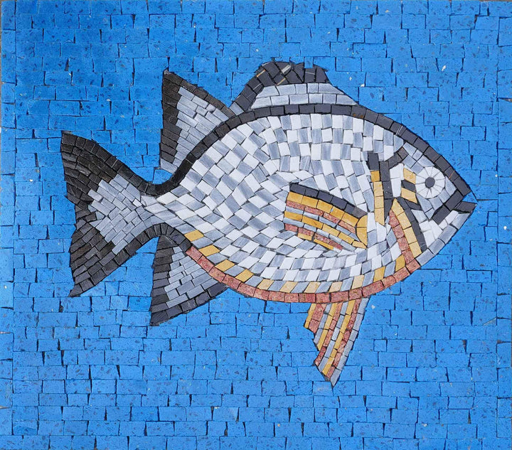 Red Breasted Sun Fish Nautical Mosaic Art
