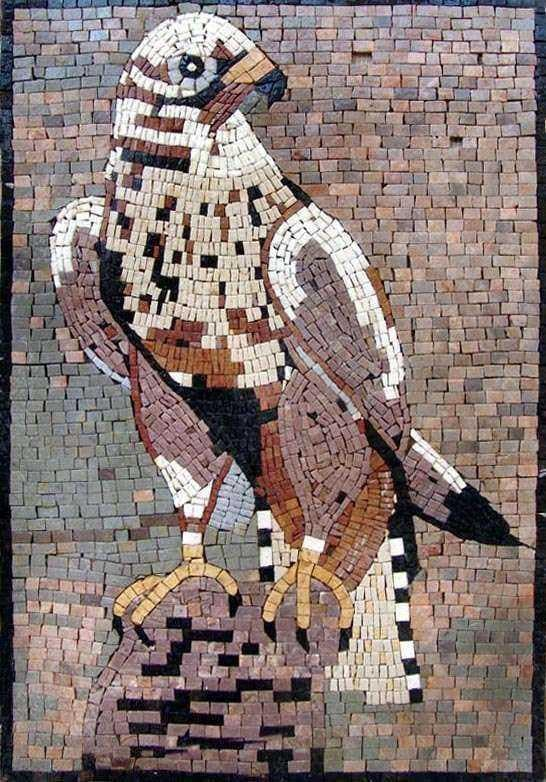 Marble Mosaic Art - Royal Falcon