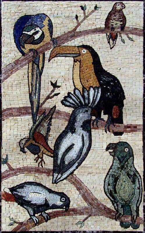Mosaic Art - Exotic Birds