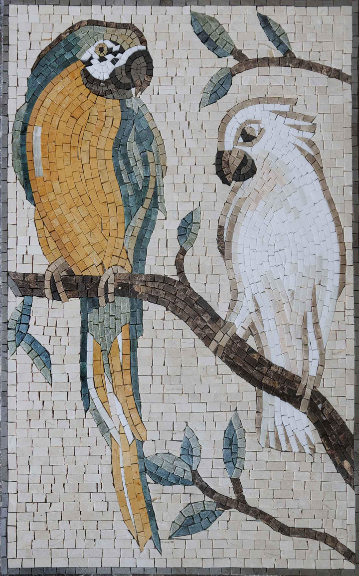 Mosaic Wall Art - The Two Exotic Birds
