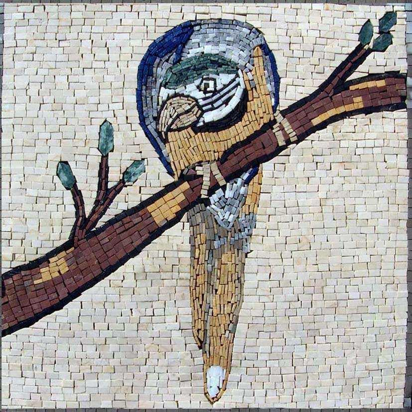 Mosaic Wall Art - Wondering Macaw