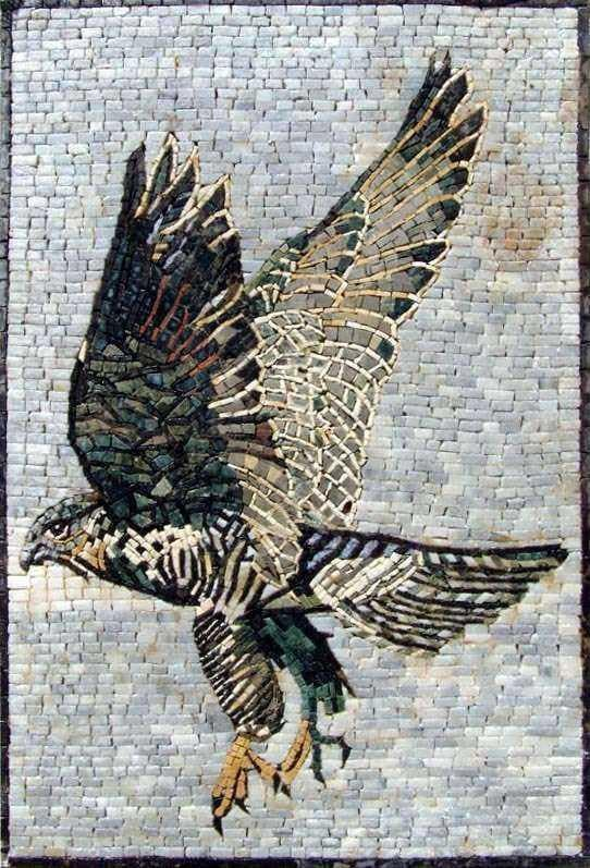 Mosaic Wall Art - Hunting Falcon