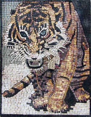 Image of: Disegni Mosaic Art Designs Tiger Animals Mozaico Mosaic Animals Animals Mosaic Art Mozaico