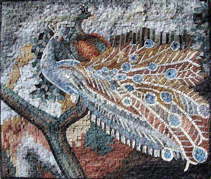 Mosaic Designs - Colorful Peafowl