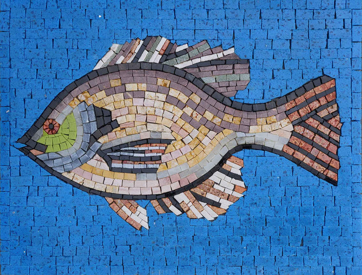 Shades Of Pisces- Fish Mosaic Wall Art