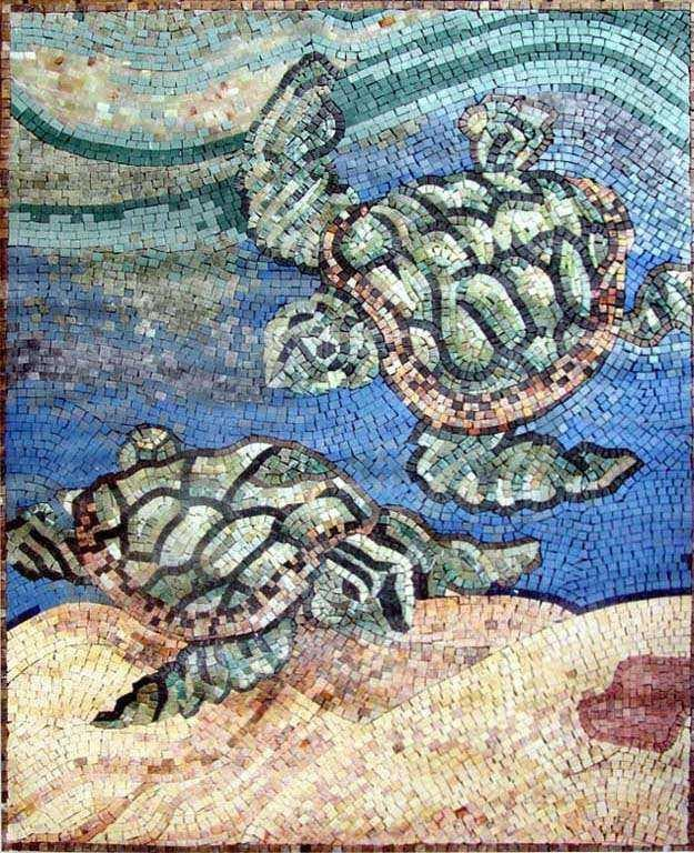 Sea Turtles Mosaic