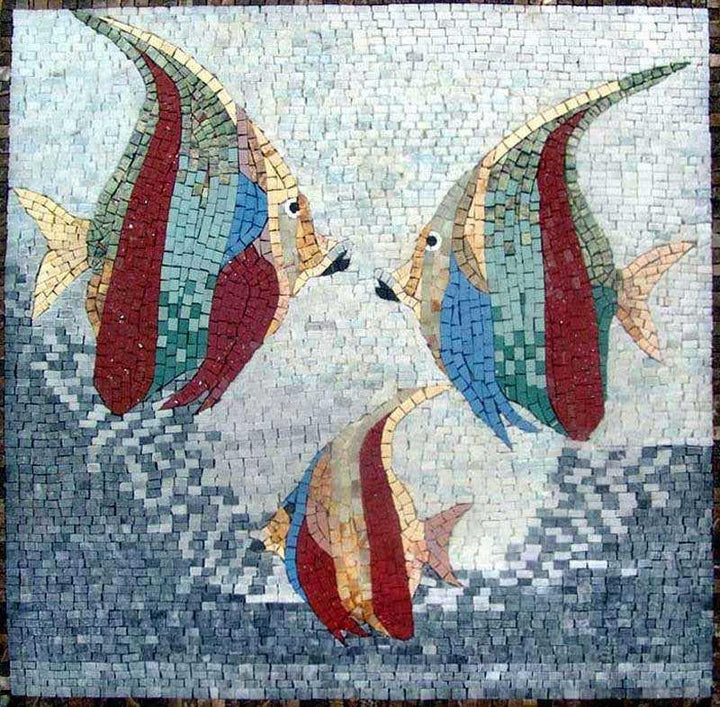 Fish Stone Mosaic Art