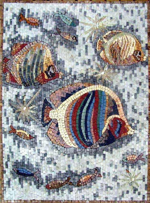 Fish Art Mosaic Mural