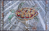 Sea Turtle Mosaic Art Design
