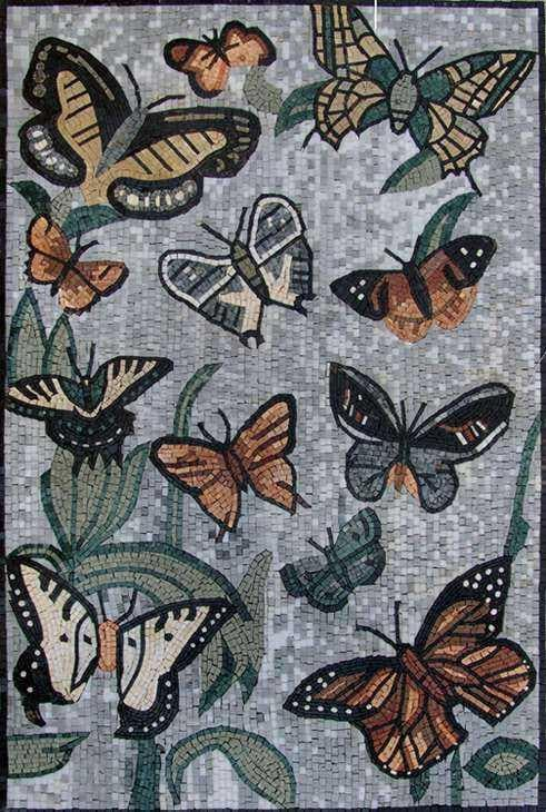Mosaic Tile Art - Butterfly Charms