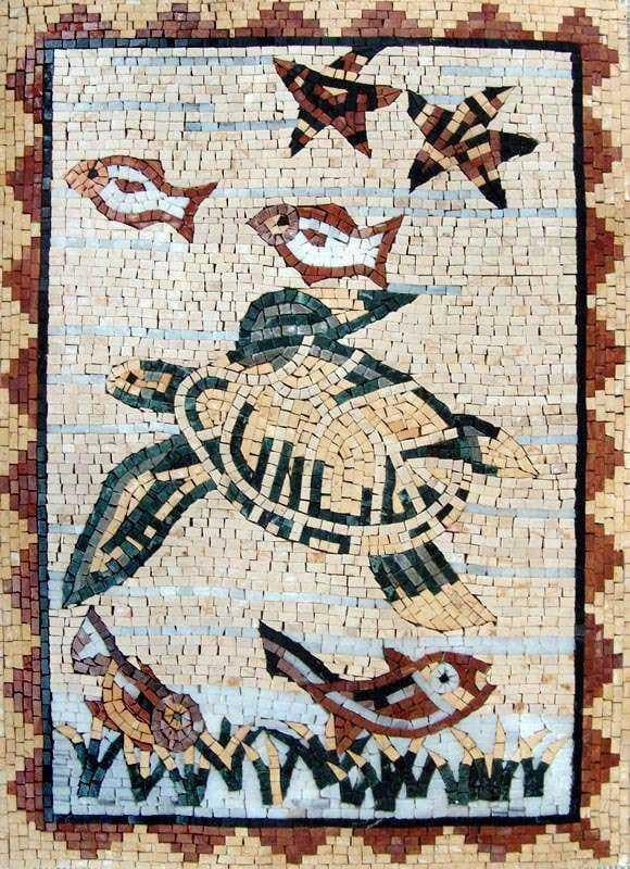 Turtle Mosaic Art