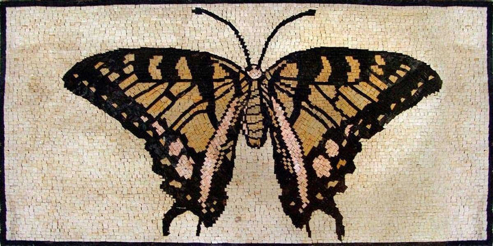 Mosaic Tile Art - Butterfly Design