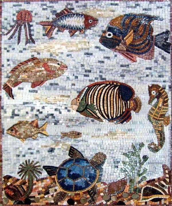 Sea Creatures Mosaic