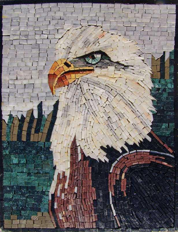Mosaic Art - Proud Eagle