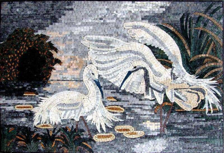 Mosaic Wall Art - Blue-winged goose