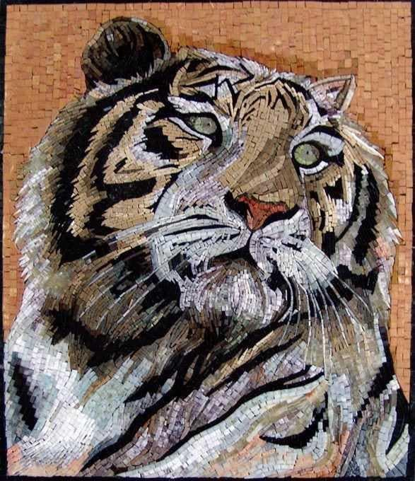 Mosaic Wall Art - Tiger