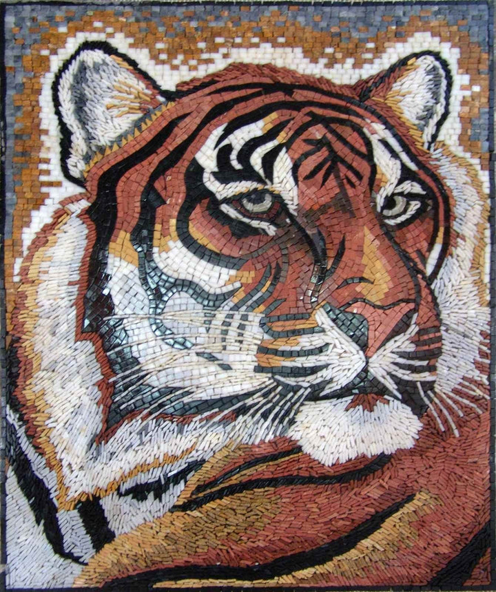 Mosaic Wall Art  - Tiger Look