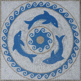The Three Dolphins Mosaic Artwork | Marine Life&Nautical | Mozaico