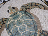 Sea Turtle Mosaic Art With Borders