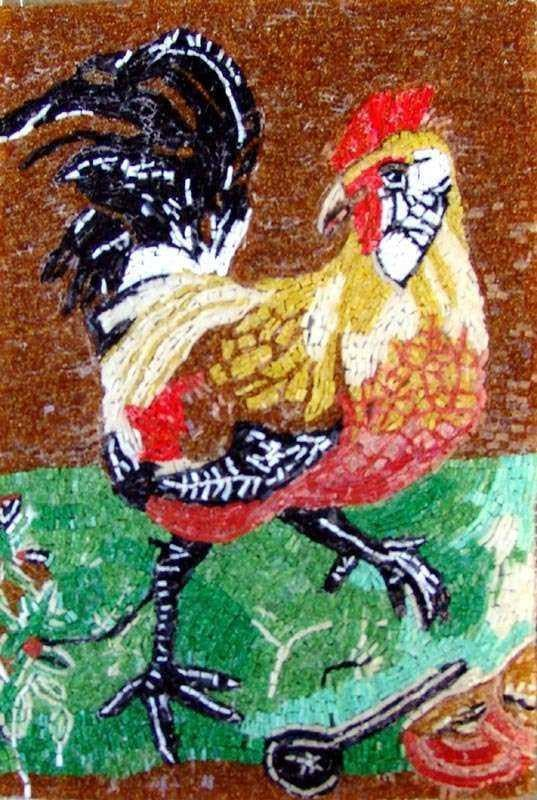 Mosaic Glass Art - Rooster
