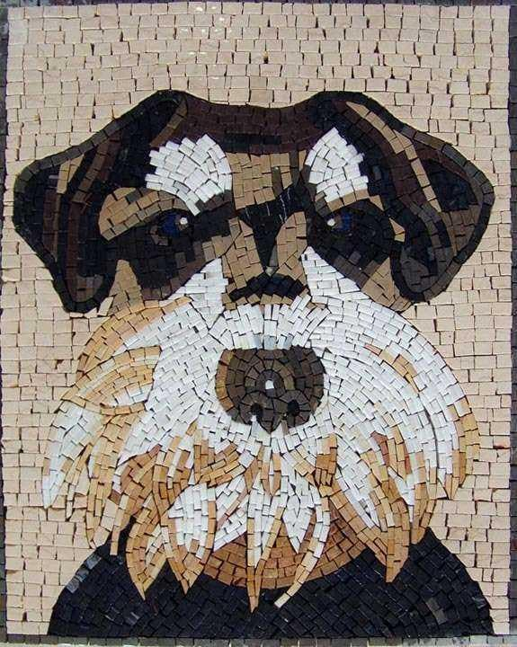 Mosaic Animal Designs - Dog Portrait