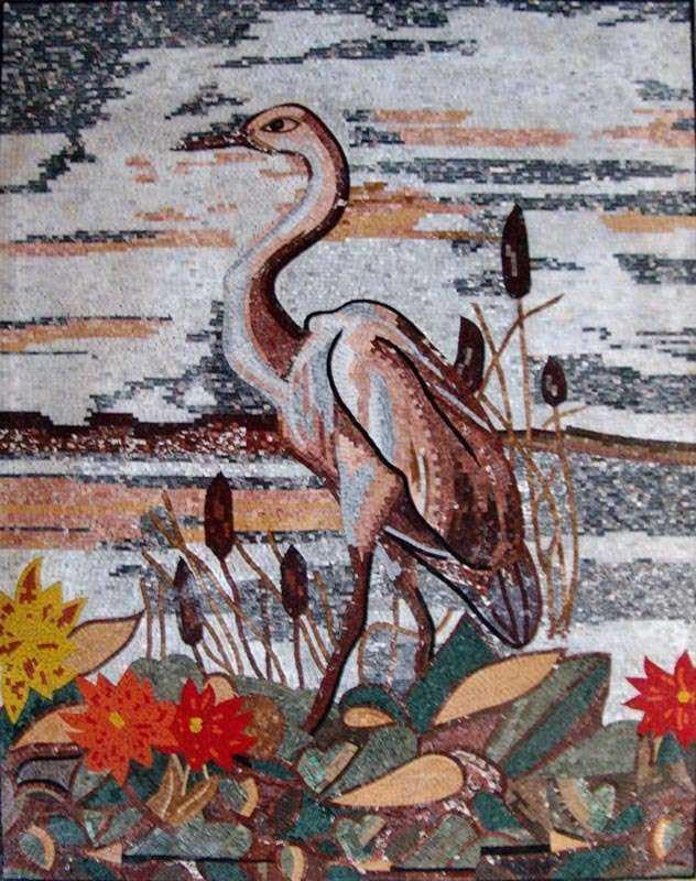 Mosaic Designs - Colorful Heron