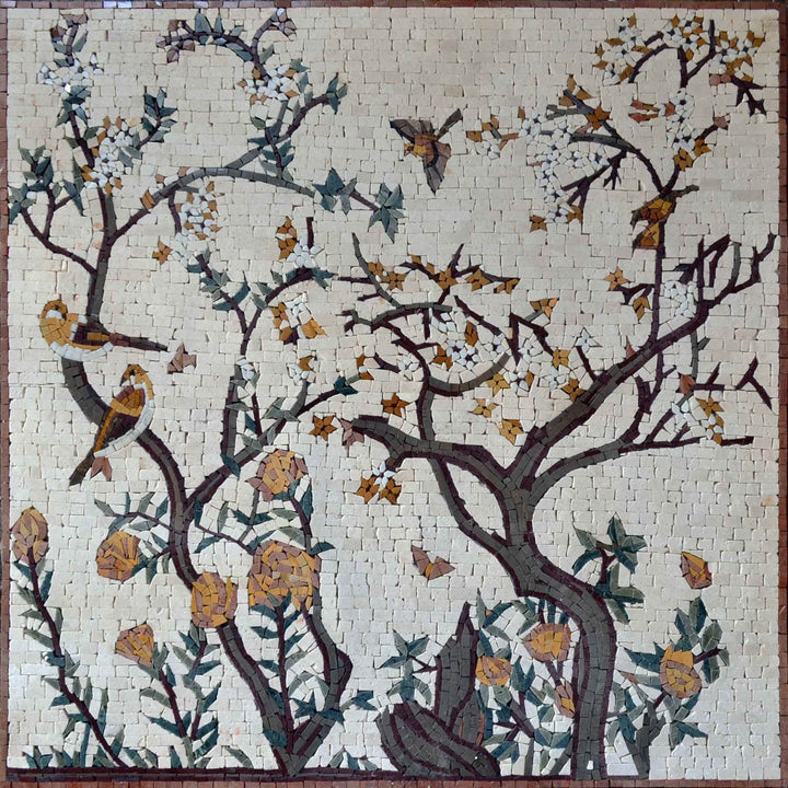 Mosaic Artwork - Blooming Tree