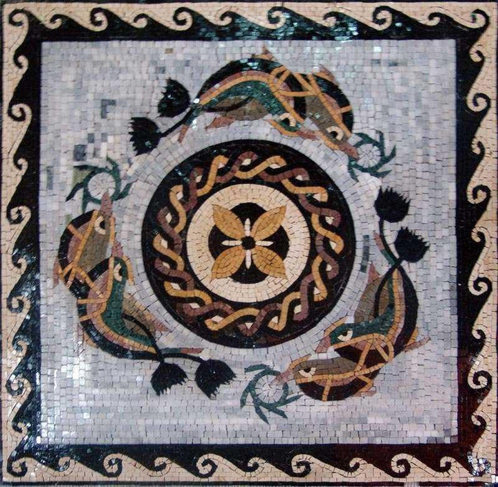 Nautical Geometric Mosaic