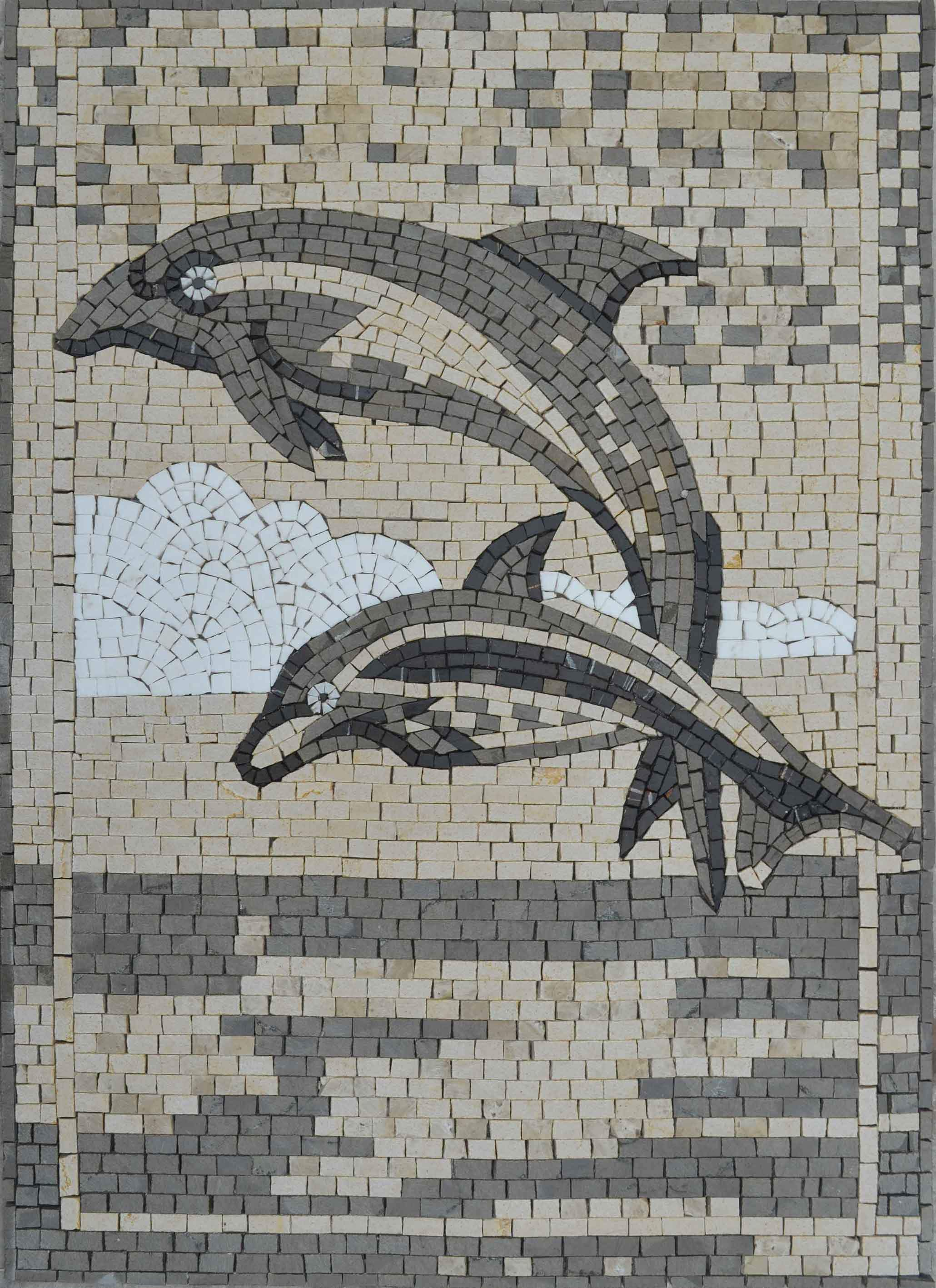 Dolphins Mosaic Artwork