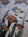 Under the Sea Fish and Turtle Mosaic art