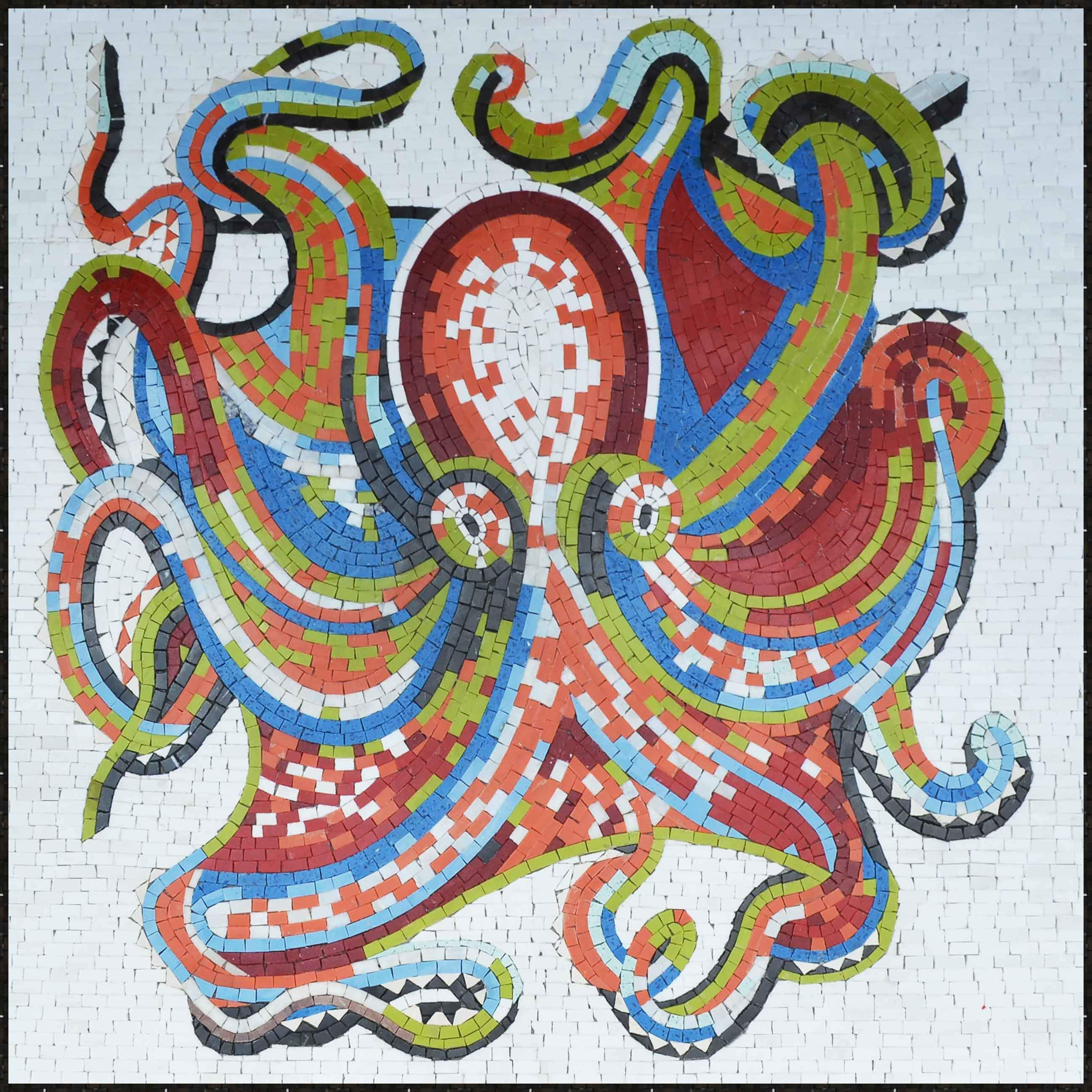 Octopus In Colors Mosaic Art Pic