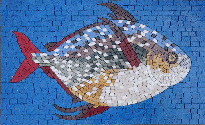 Moonfish-Opah Fish Mosaic Wall Art
