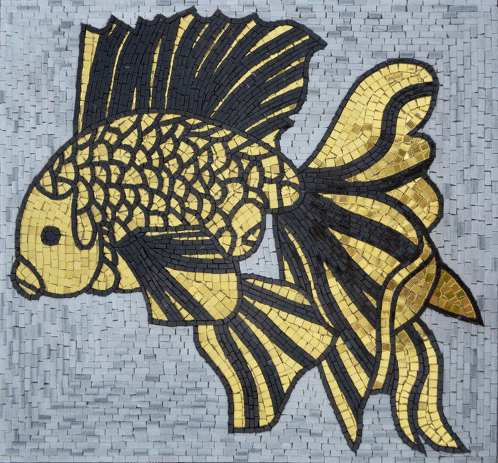 Mosaic Artwork - The Gloden Fish