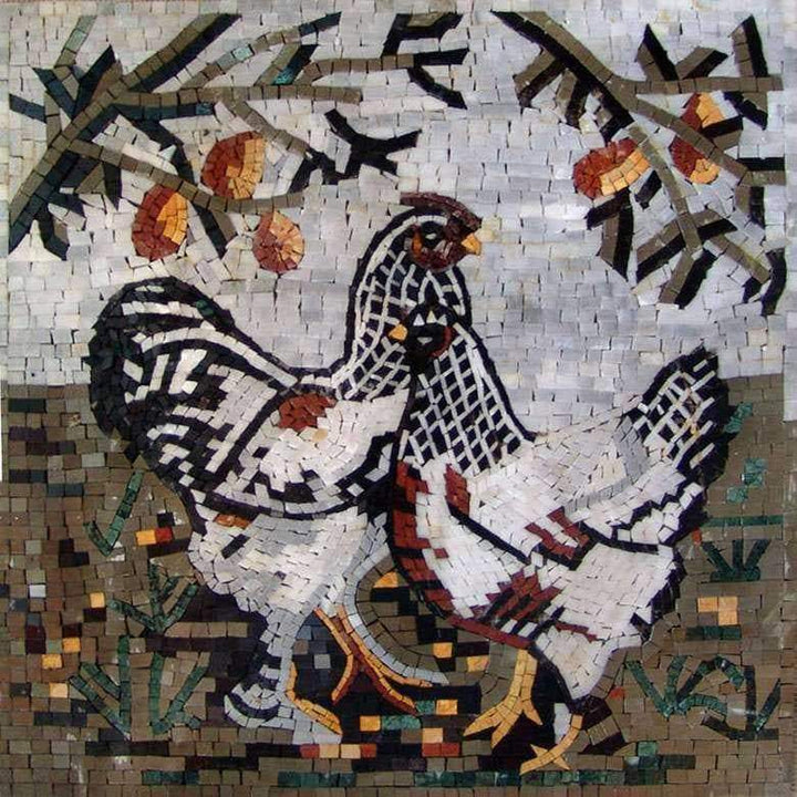 Mosaic Kitchen Backsplash- Chicken Chick