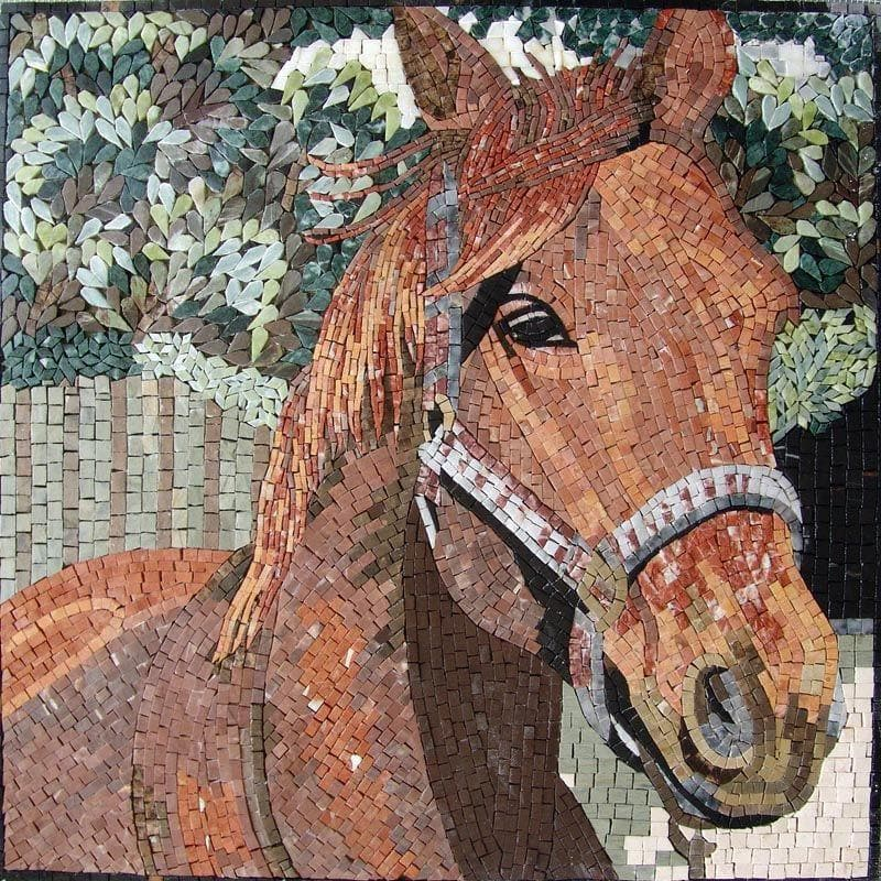 Mosaic Artwork - Horse
