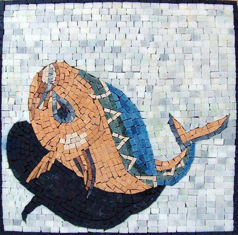 Artistic Fish Mosaic Artwork