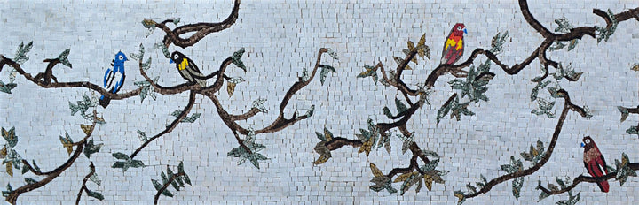 Mosaic Wall Art - Birds on Branches