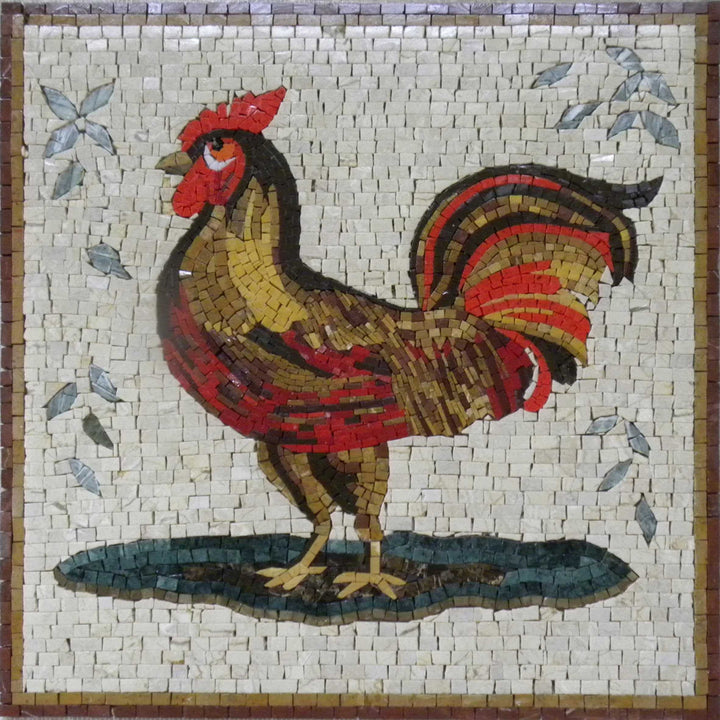 Mosaic Tile Patterns - Varnished Rooster
