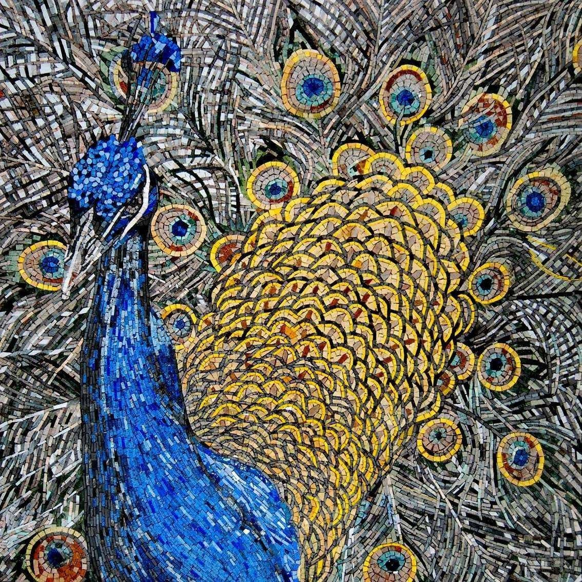 Mosaic Designs - Colorful Peacock